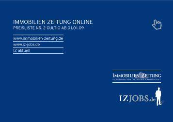 Download Mediadaten Online 2009/2010 - Immobilien Zeitung
