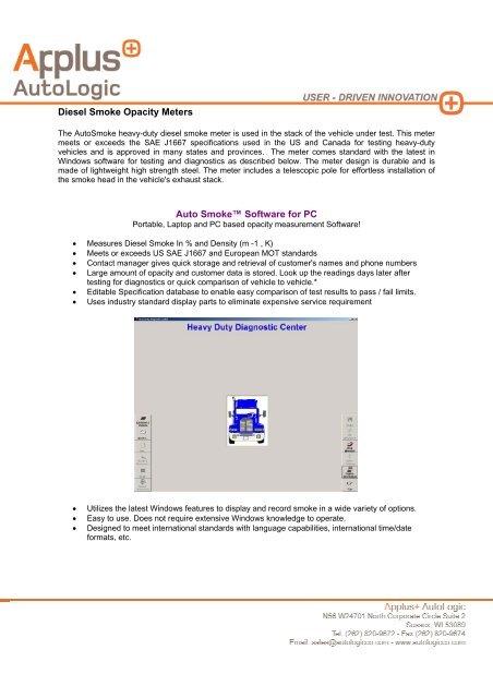 Portable Instruments - Applus catalogue, Diesel Smoke