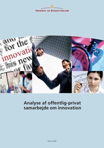 Analyse af offentlig-privat samarbejde om ... - Erhvervsstyrelsen