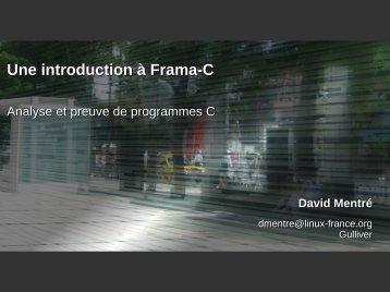 Une introduction à Frama-C - Linux-France