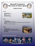 Baseball Training in Barcelona & Salou, Spain ... - Selects Sports - Page 6