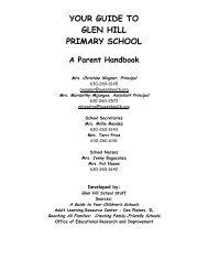 your guide to glen hill primary school - Queen Bee Schools, District 16