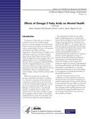 Effects of Omega-3 Fatty Acids on Mental Health - AHRQ Archive ...