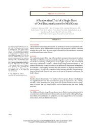 A Randomized Trial of a Single Dose of Oral Dexamethasone for ...