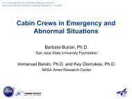 Cabin crews in emergency and abnormal situations