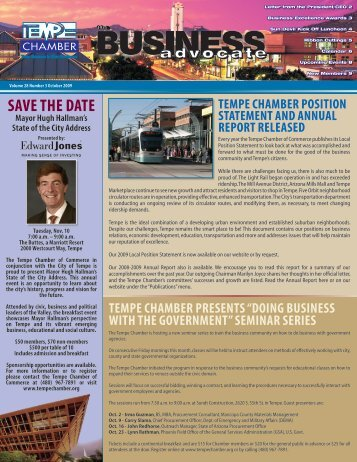SAVE THE DATE - Tempe Chamber of Commerce