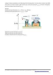 La figure ci-dessous représente un cric hydraulique formé de deux ...