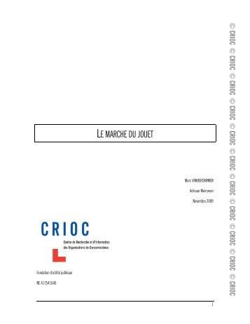 LE MARCHE DU JOUET - Crioc