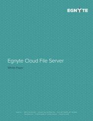Egnyte Cloud File Server Architecture