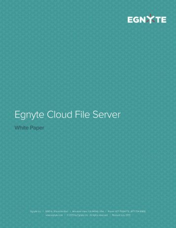 Egnyte Cloud File Server Architecture