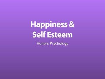 Happiness & Self Esteem - developmentalcognitivescience.org