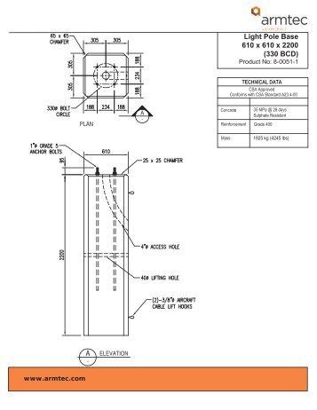 Light Pole Bases - Armtec