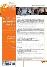Présentation et programme de la conférence - FSE