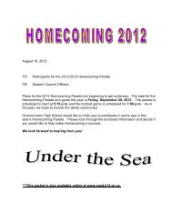 information about Homecoming - Oconomowoc Area School District