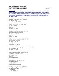 WHITPAIN TOWNSHIP ENGINEER PHONE LIST