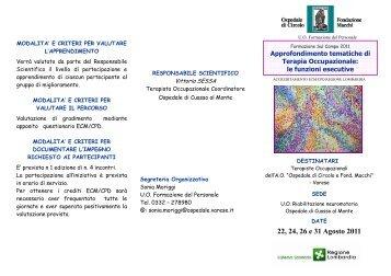 22, 24, 26 e 31 Agosto 2011 - Ospedale di Circolo e Fondazione ...