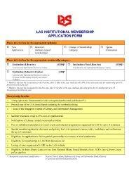 las membership application form - Library Association of Singapore