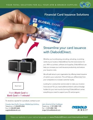 Financial Card Issuance Solutions - DieboldDirect