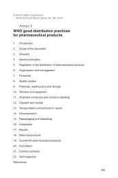 Annex 5 WHO good distribution practices for pharmaceutical products