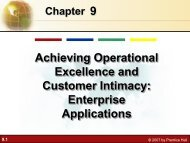 9 Achieving Operational Excellence and Customer Intimacy ...