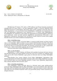 Özel Ağaçlandırma Hibe ve Kredi Tahsisleri - Orman Genel Müdürlüğü