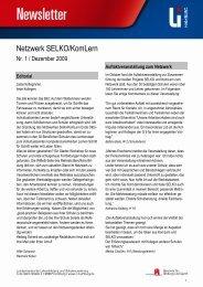 Newsletter Nr. 1, 12/2009 - Landesinstitut für Lehrerbildung und ...