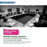 RAPPORT ANNUEL 2009-2010 L'INSERTION ... - Le Conseil