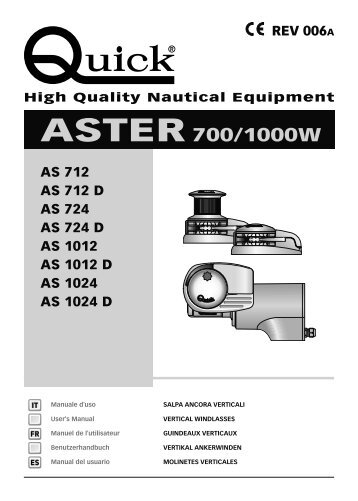 ASTER 700/1000W - Quick® SpA