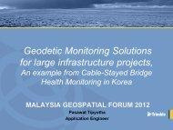 Trimble Monitoring Solutions - Malaysia Geospatial Forum 2012