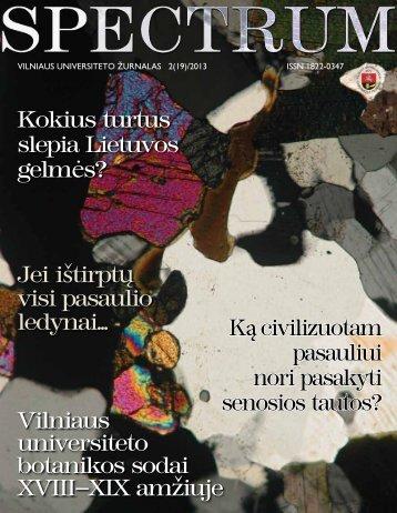 Kokius turtus slepia Lietuvos gelmės? Vilniaus ... - VU naujienos