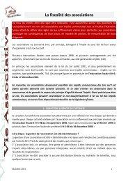 La fiscalité des associations - Familles de France