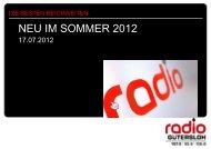 NEU IM SOMMER 2012 - Radio Gütersloh