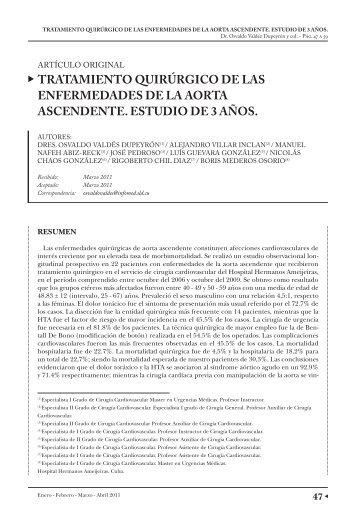 TRATAMIENTO QUIRÚRGICO DE LAS ... - caccv.org.ar