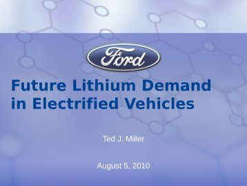Future Lithium Demand in Electrified Vehicles