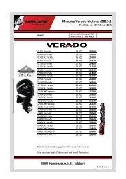 Mercury Verado Motoren - Boote Graser