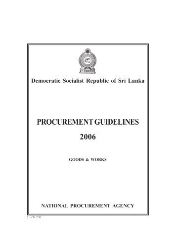 PROCUREMENT GUIDELINES - Ministry of Finance and Planning