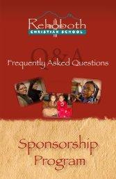 Sponsorship Program - Rehoboth Christian School