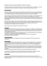 Voir rubrique « Info pratiques – Documents » ou Cliquez ICI