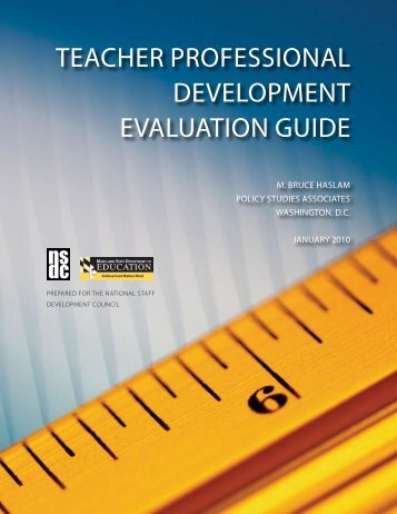 Teacher Professional DeveloPmenT evaluaTion ... - Learning Forward