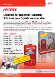 Promotion LOCTITE ® - Prospectus publicitaire - KVT-Fastening