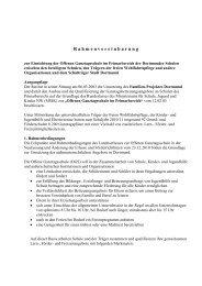 Rahmenvereinbarung Offene Ganztagsschulen [pdf ... - Dortmund.de