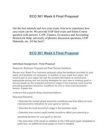 final proposal eco 561 Eco 561 week 6 final proposal buy solutions:   eco 561 week 6 final proposal resource: business.