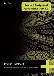 Product Design and Governance Service - Barrie & Hibbert