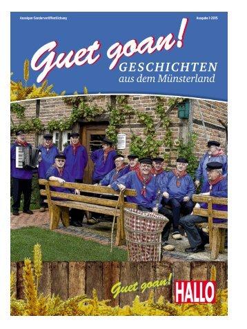 Guet goan - Geschichten aus dem Münsterland