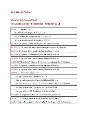 SAG THIS MONTH Sankt Annæ Gymnasium Aktivitetskalender ...