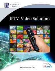 IPTV Video Solutions Product Sheet - Innovative Systems