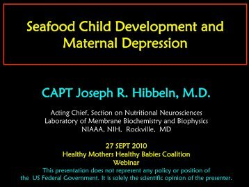Download PDF of slides from Captain Joseph Hibbeln