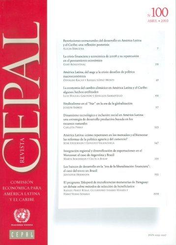 Revista CEPAL Nº100