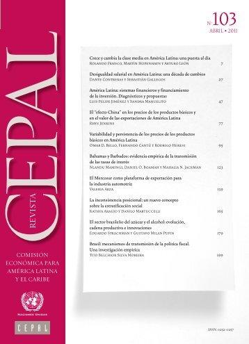 Revista CEPAL Nº103
