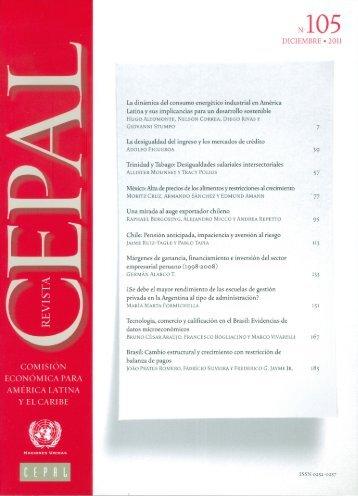 Revista CEPAL Nº105